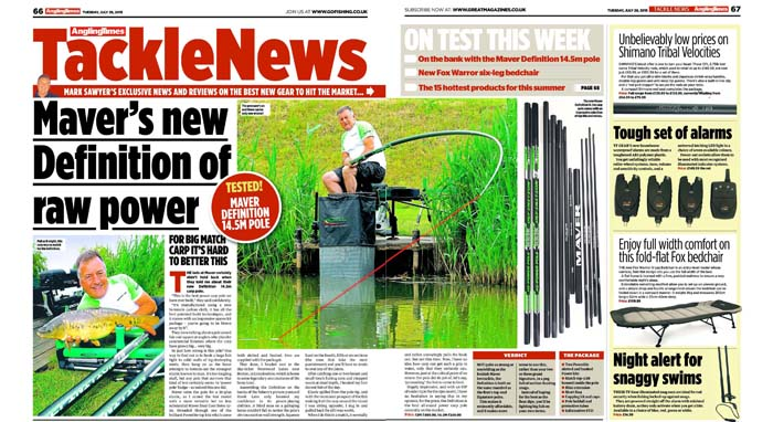 Definition review, Angling Times, July 2015