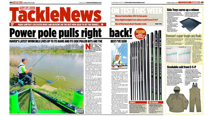 Invincible 215 review, Angling Times, April 2015