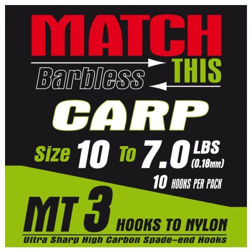MT3 carp hair rigs