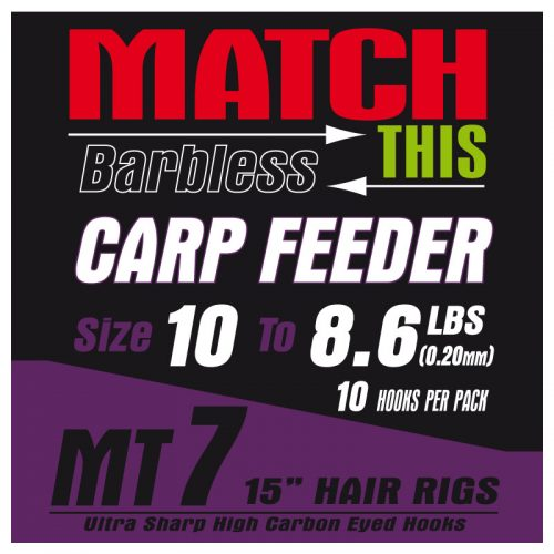 MT7 carp feeder hair rigs
