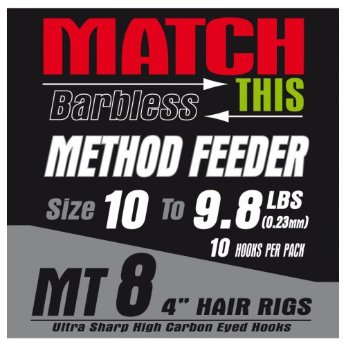 MT8 method feeder hair rigs