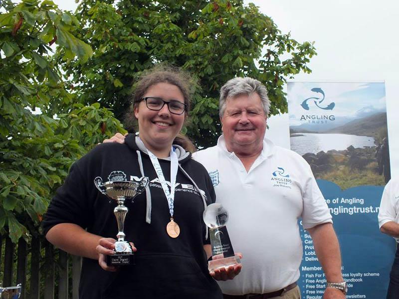 Sarah Taylor receives the Upcoming Angler award