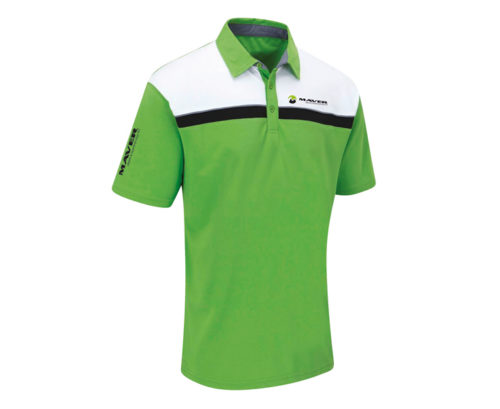 Stripe performance polo (green)