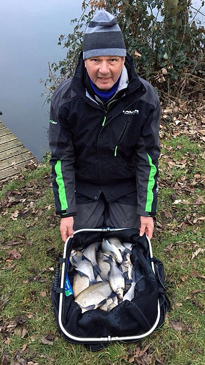 Tommy with a typical silvers catch over the course of the event