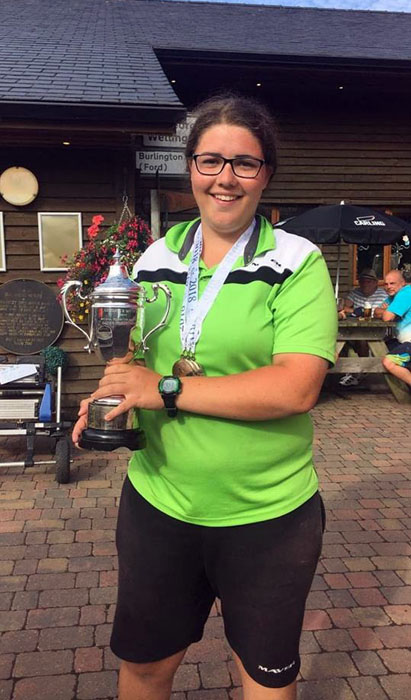 Sarah Taylor with the second place Ladies National trophy