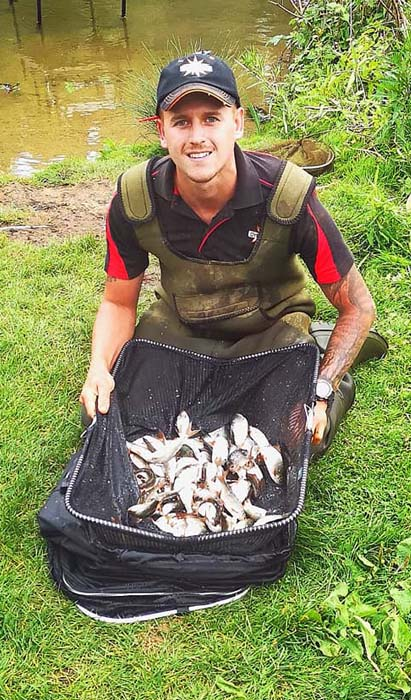 Bradley Gibbons with his opening day catch