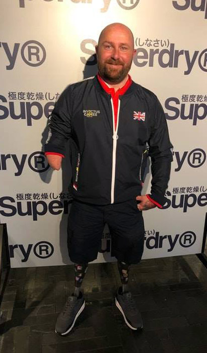 Dave proudly sporting the Official 2018 Invictus Games Team GB kit