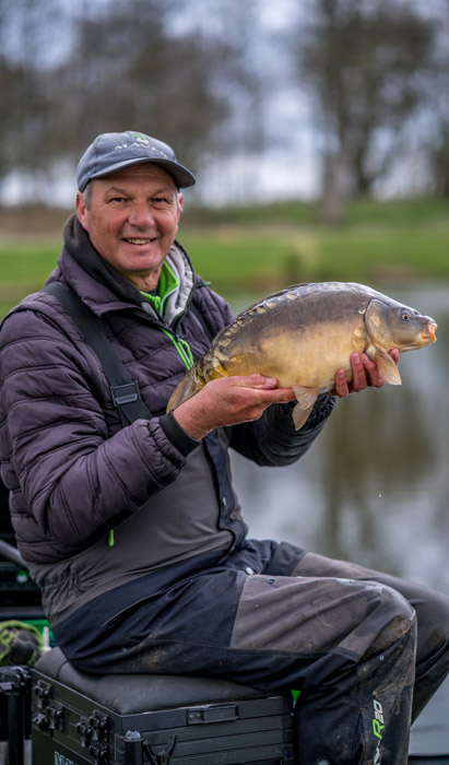 Tommy with a typical Hayfield Lakes carp